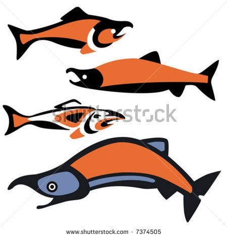 450x470 18cute Salmon Clip Art