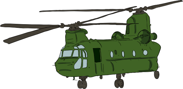 600x294 Chinook Helicopter Clip Art Free Vector 4vector