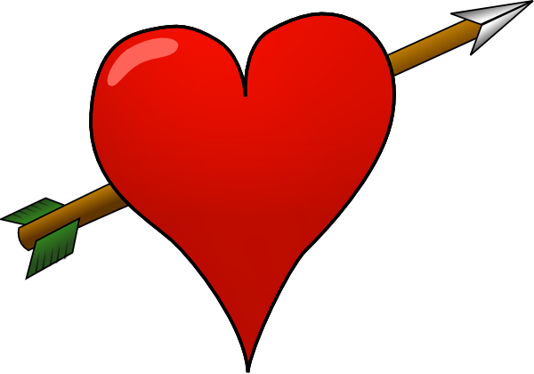 600x420 Heart Arrow Clip Art Free Vector 4vector