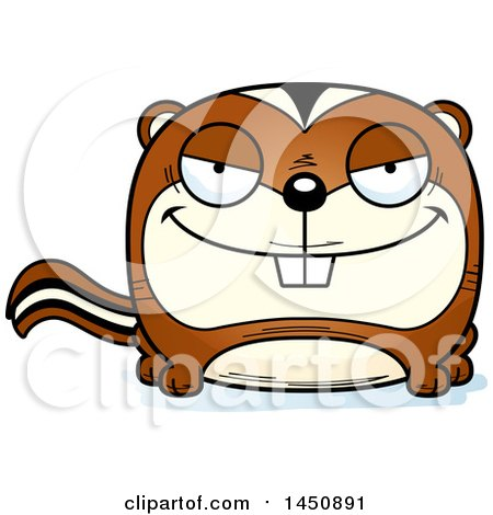 450x470 Clipart Graphic Of A Cartoon Sly Chipmunk Character Mascot