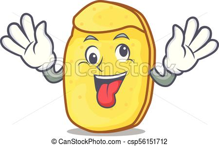 450x300 Crazy Potato Chips Mascot Cartoon Vector Illustration Vector Clip
