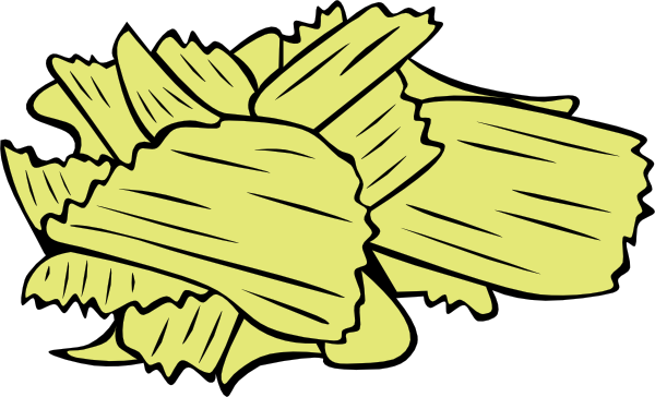 600x364 Potato Chips Clip Art Free Vector 4vector