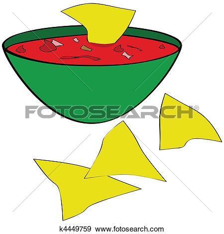 450x470 Salsa And Chips Clipart