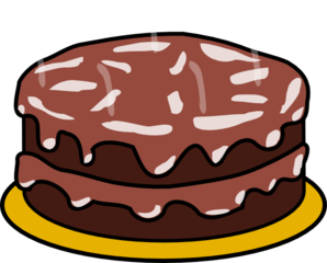 298x240 Chocolate And Chocolate Cake Clip Art