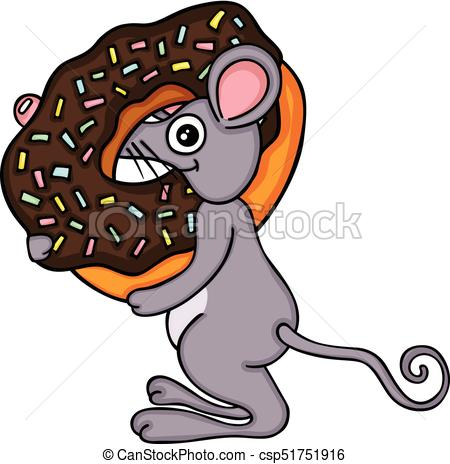 450x464 Scalable vectorial image representing a mouse with chocolate