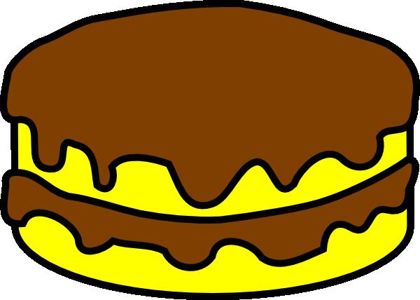 600x428 Yellow And Chocolate Cake Clip Art