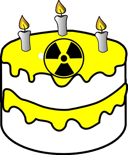 492x595 Yellow Radioactive Cake Clip Art