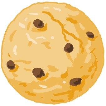 340x340 Chocolate Chip Cookie Clip Art
