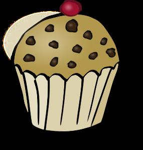 285x298 Chocolate Chip Muffin Clip Art