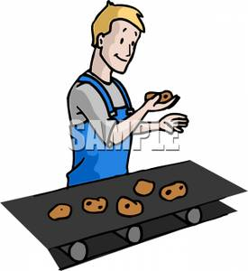 275x300 A Worker Inspecting Chocolate Chip Cookies