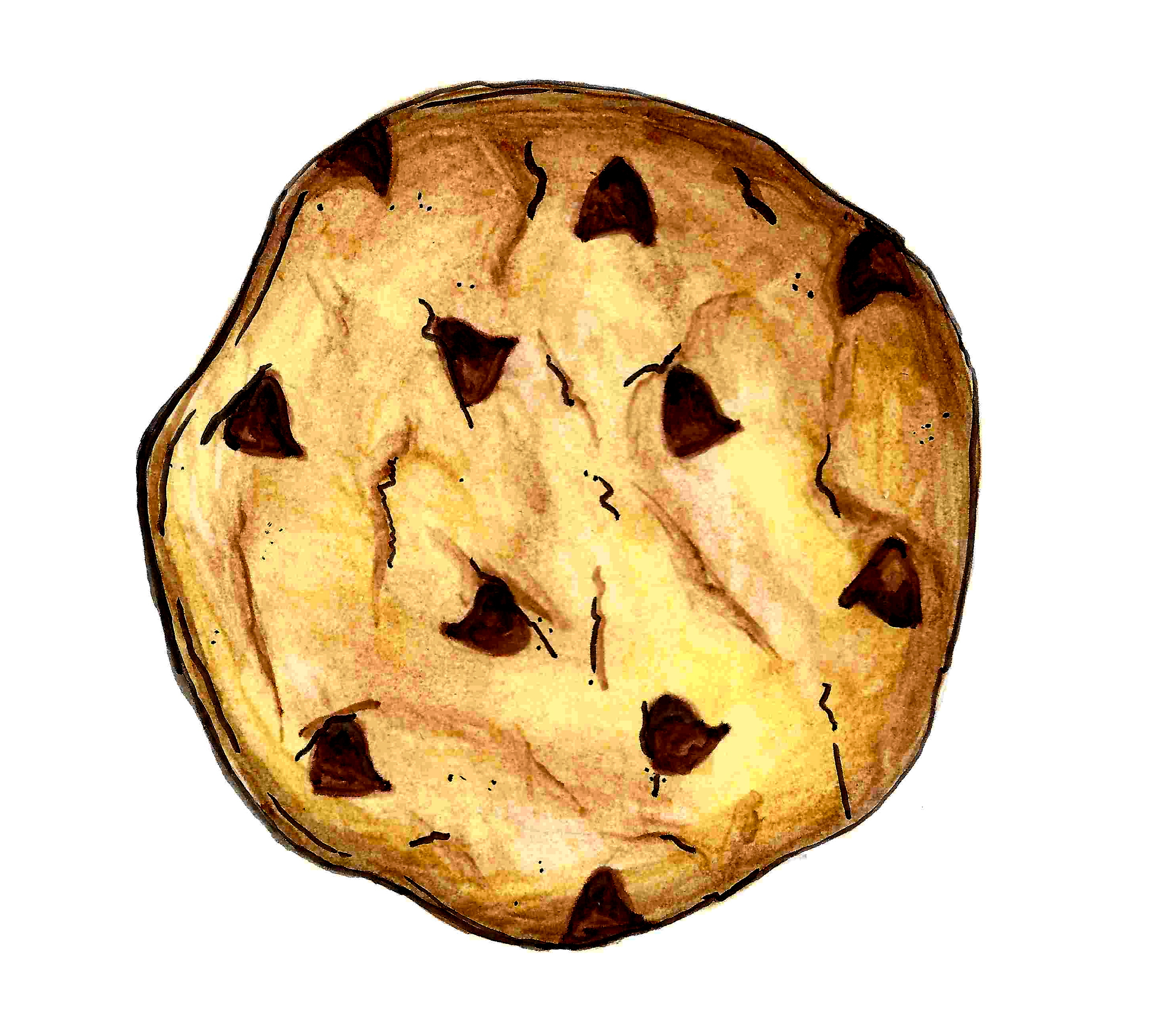 2894x2605 Chocolate Chip Cookie Drawing Food Clipart Chocolate Chip Cookie