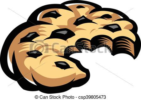 450x318 Chocolate Chip Cookie Vectors Illustration