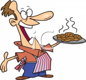 300x280 Clipart Picture Of A Man With Fresh Baked Cookies