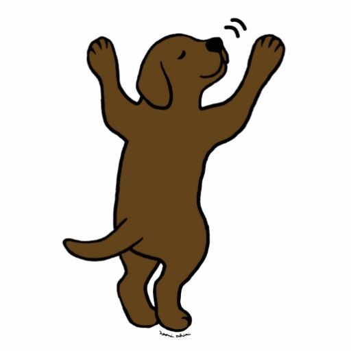 512x512 Chocolate Labrador Puppy Hug Cartoon Cutout Chocolate Labrador
