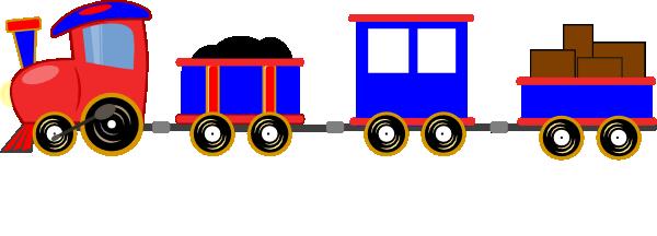 600x216 Choo Choo Train With Cars Clip Art