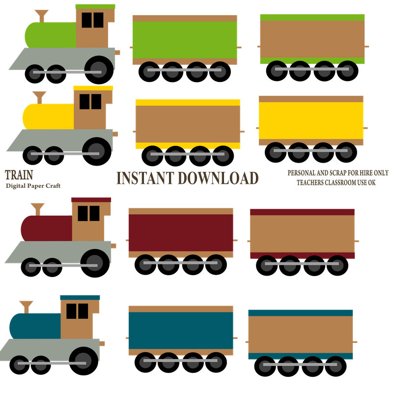 800x800 Train Clipart Transport Clipart Choo Choo Train Instant