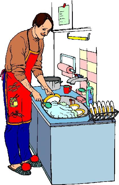 420x649 Clip Art Activities Washing Up