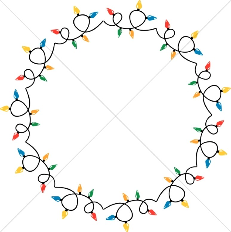 774x776 circular christmas lights border christian christmas borders