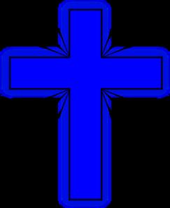 243x298 Blue Cross 2 Clip Art