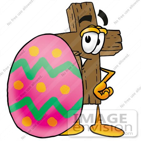 450x450 Christian Crosses Eggs Clipart