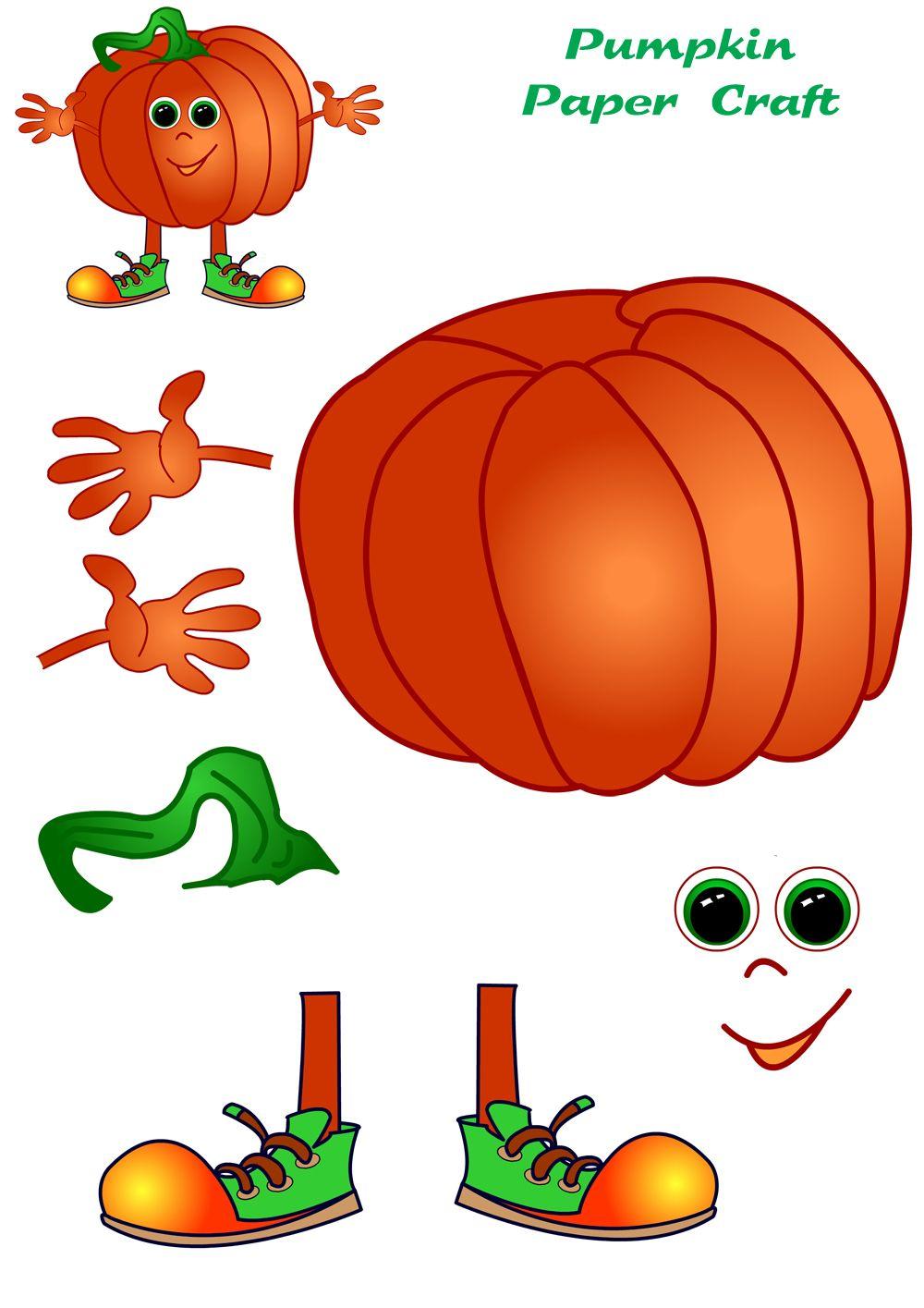 1000x1415 Paper Crafts Templates Pumpkin Paper Craft Template This Pumpkin