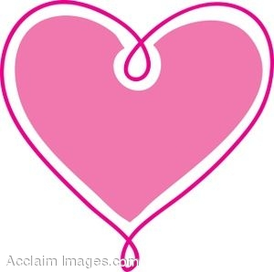 300x298 Cute Pink Heart Clipart