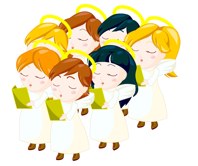 3000x2504 Angel Choir Clipart