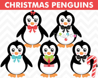 340x270 Penguin Clipart Watercolor Christmas Bird Animal Winter Cute Baby