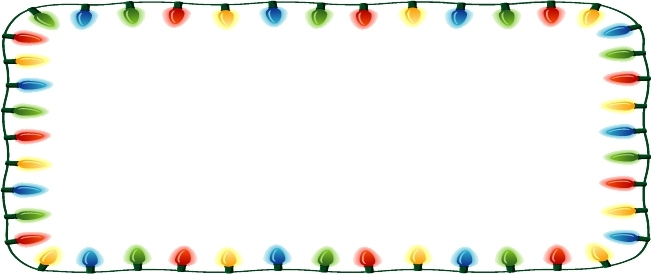 651x274 Christmas Lights Banner Clipart Clip Art Library Within
