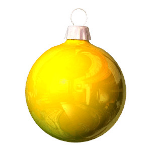 300x300 Gold Christmas Ornament Clipart Happy Holidays!