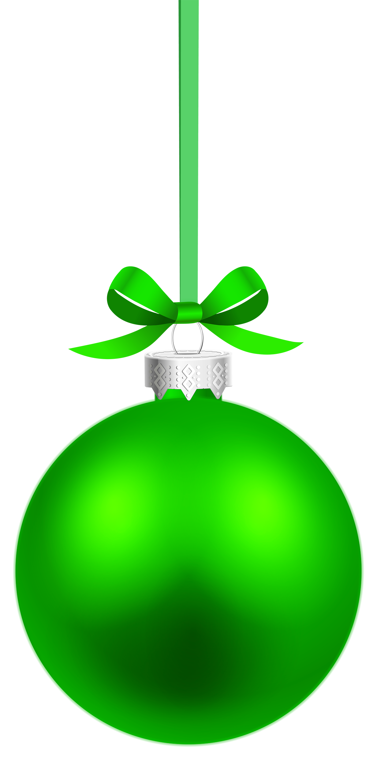 1232x2500 Green Hanging Christmas Ball Png Clipart