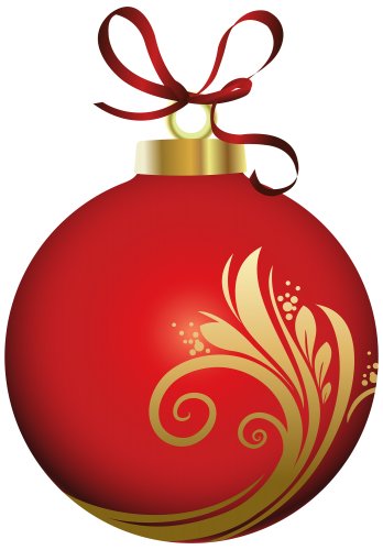 348x500 Red Christmas Ball With Decoration Png Clipart Clipart