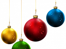 220x165 Christmas Balls Clipart Transparent Christmas Ball Red And Gold 3d