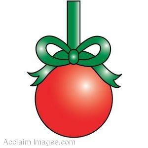 300x300 Clip Art Of A Christmas Ball Ornament