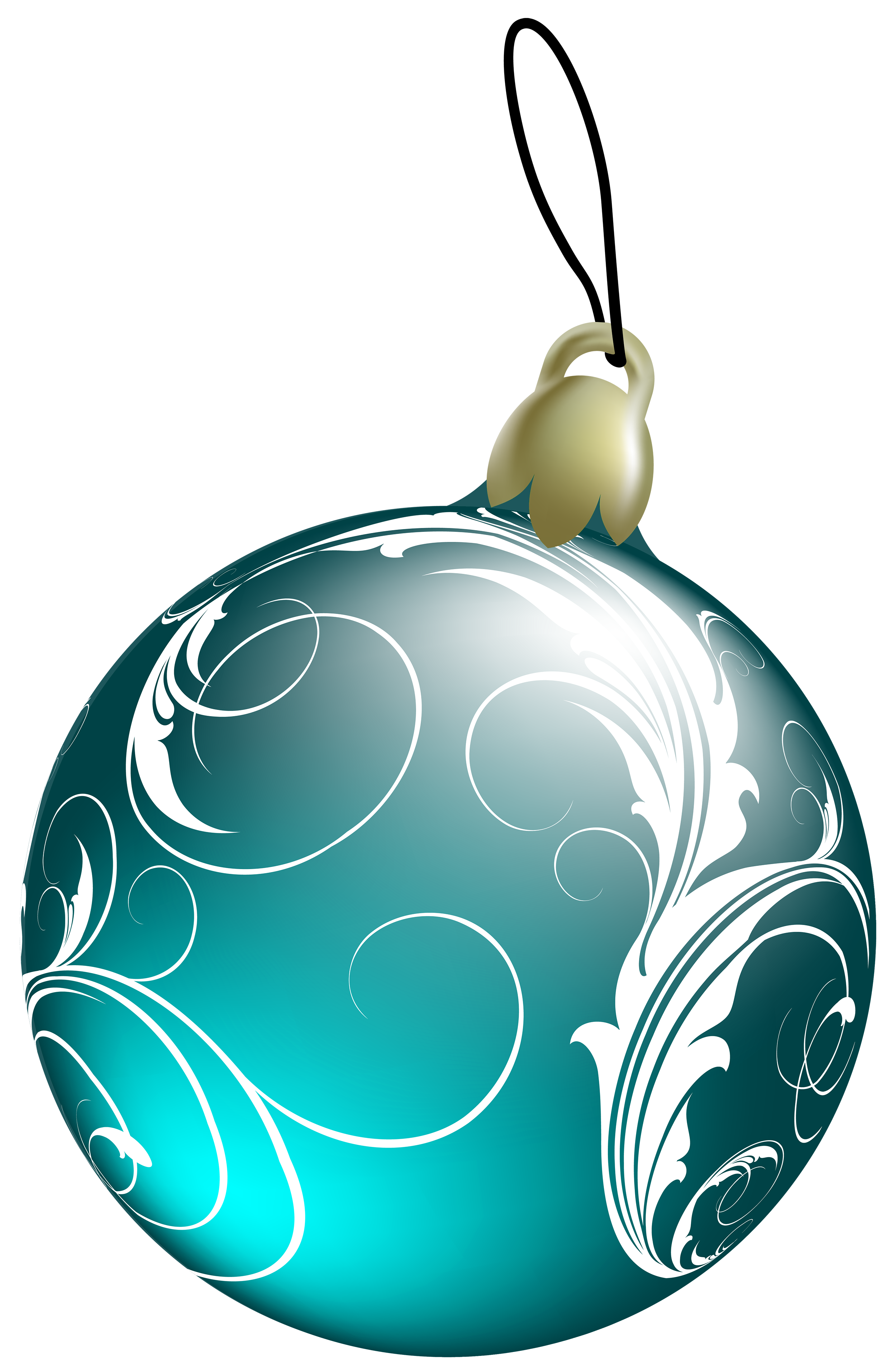 2500x3828 Beautiful Blue Christmas Ball PNG Clipart