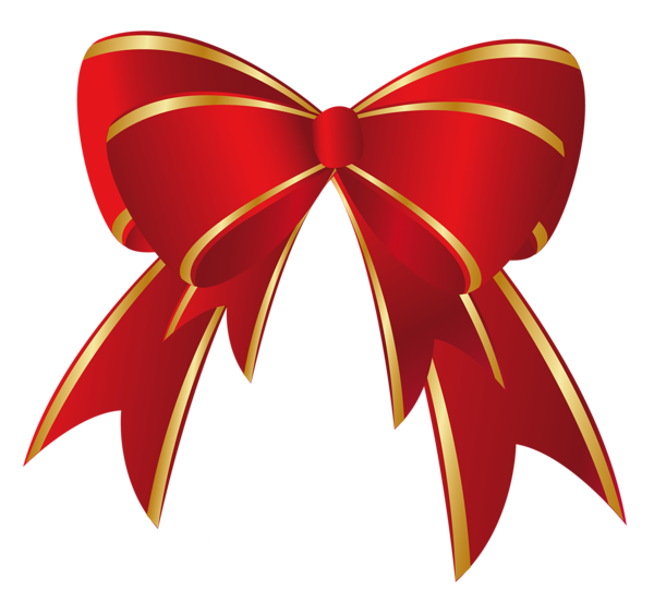 600x541 Christmas Red Gold Bow Png Clipart Decorations Red