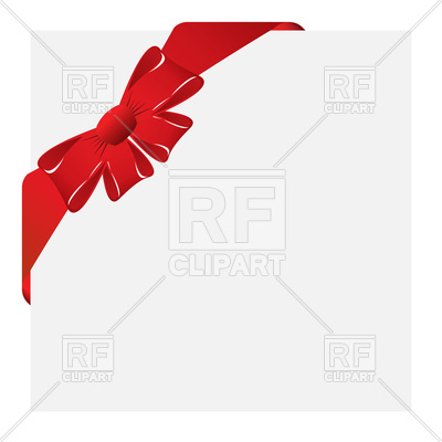 400x400 Christmas Bow Corner Royalty Free Vector Clip Art Image