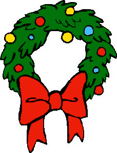 228x300 Free Christmas Bows Clipart