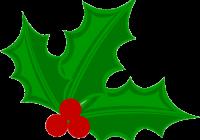 200x140 Christmas Holly Clipart Christmas Bow With Holly Clip Art