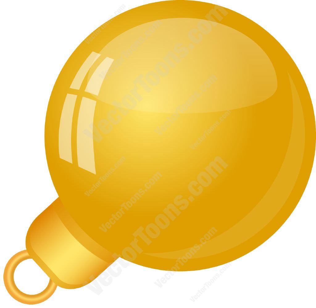 1024x999 Solid Yellow Christmas Tree Ball Ornament Cartoon Clipart Vector