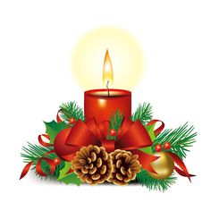 236x236 Christmas Champagne And Candles Png Clipart Image