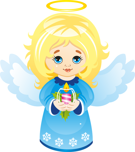 532x600 Cute Christmas Angel With Candle Clipart