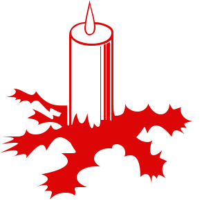 292x290 Free Christmas Candles Clipart