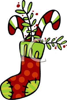 233x350 Picture Of Striped Candy Canes And Greenery In A Christmas
