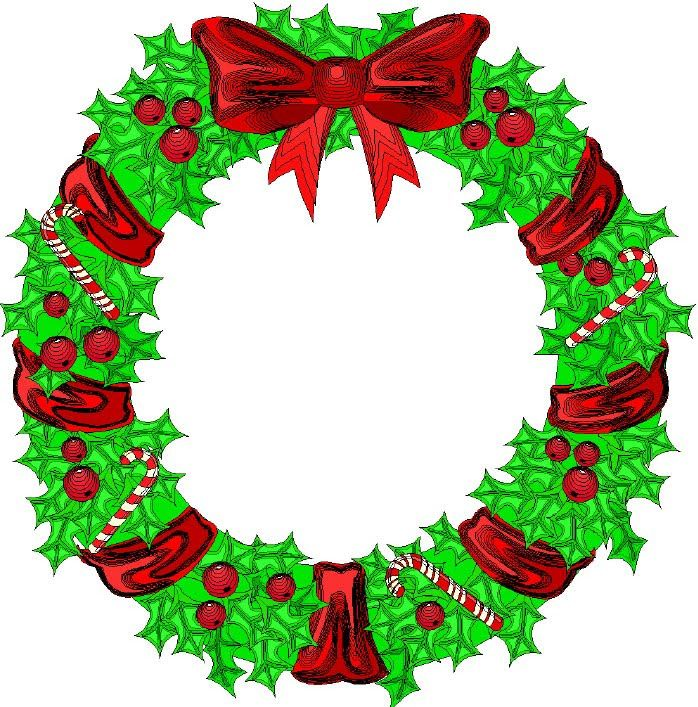 698x707 Wreath Tree Clip Art Wreath Decorated With Flowers Wallpaper