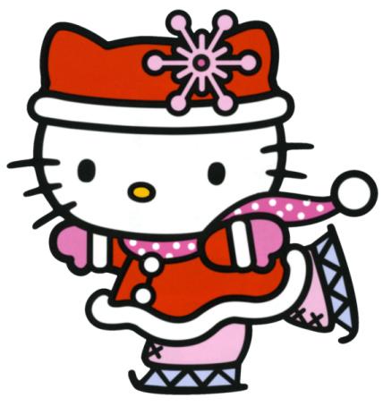 428x454 Hello Kitty Winter Clipart