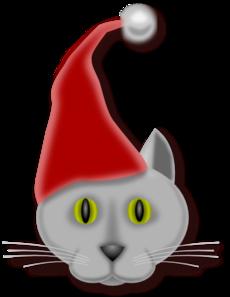 230x297 Christmas Cat Clip Art