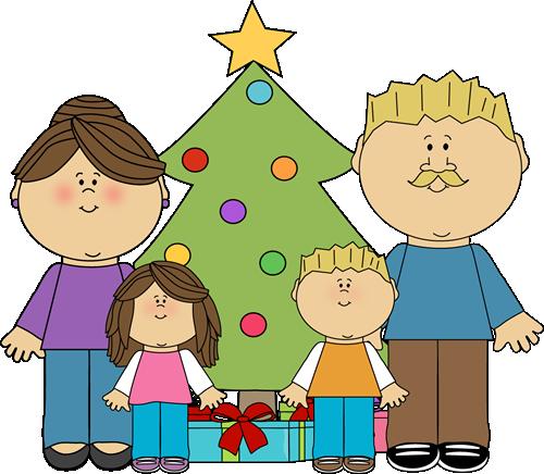 500x436 Christmas Family Clip Art