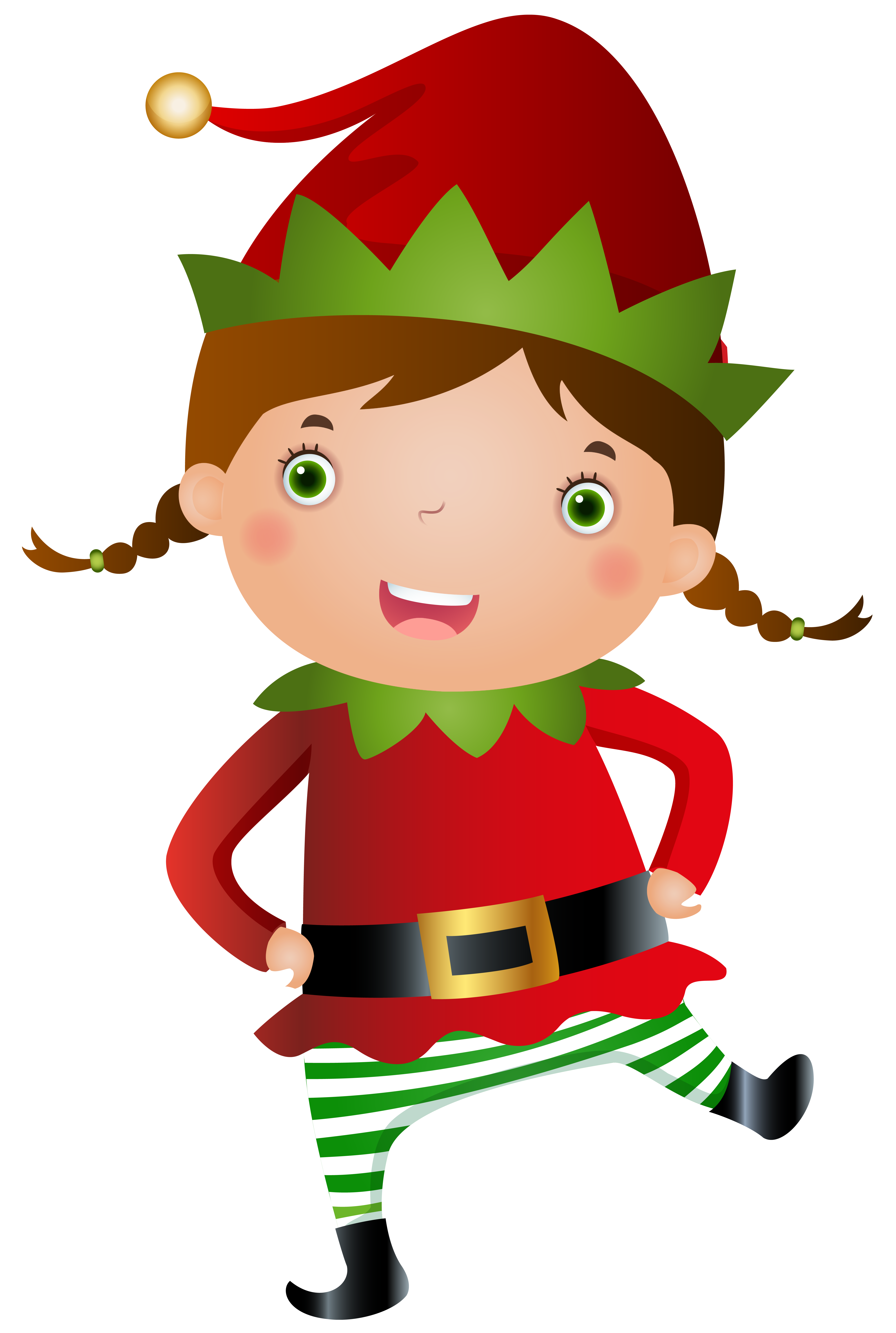 4882x7262 Collection Of Girl Christmas Elf Clipart High Quality, Free