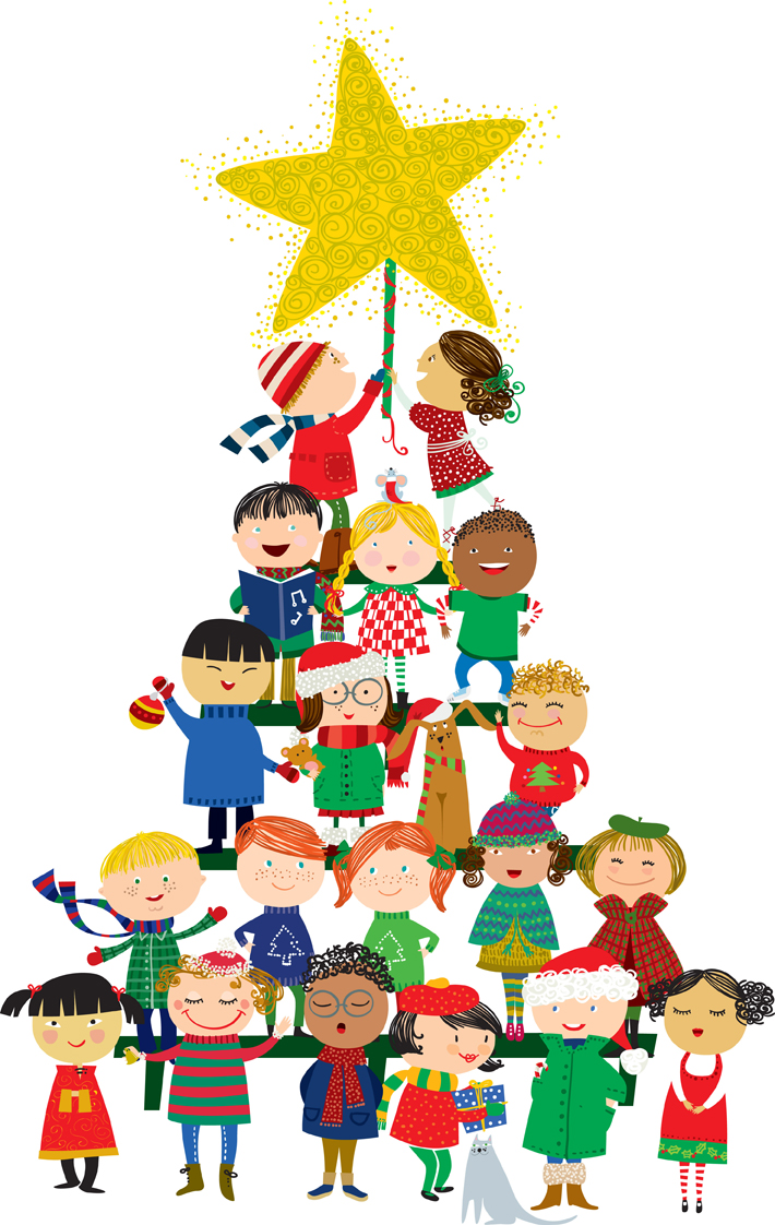 710x1122 Christmas Children Clipart